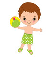 Little Boy with Ball vector image vector image