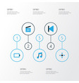 music colorful icons set collection of musical vector image vector image