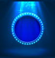 neon frame light color blue vector image vector image