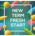 New Term back to school background vector image