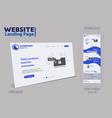 new trendy website landing page vector image vector image