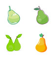 pear fruit logo vector image