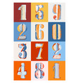 pop stencil color numbers vector image