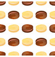 prinseamless pattern with colorful macaroon on vector image vector image