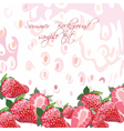 Red strawberries background vector image