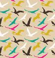 seamless pattern flying birds vector image