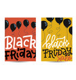 set vertical banners with black friday concept vector image