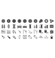 sewing and handcraft elements icon solid design vector image