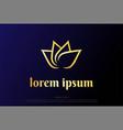 simple minimalist elegant luxury golden lotus vector image vector image