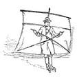 skate sailing vintage vector image vector image