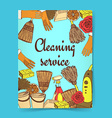 Sketch cleaning banner vector image
