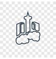 skyscraper concept linear icon isolated on vector image