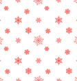 snowflake pastel red white background vector image vector image