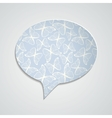 Speech bubble with butterfly ornament and shadow vector image