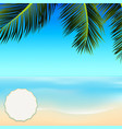 summer tropical scene with copy space in a corner vector image vector image
