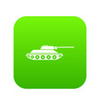 Tank icon digital green