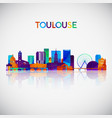 toulouse skyline silhouette in colorful geometric vector image vector image