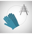 Under construction design supplies icon glove vector image vector image