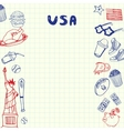 USA Symbols Pen Drawn Doodles Collection vector image vector image