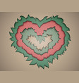 valentine paper in pastel colours in the style of vector image vector image