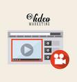 video marketing design vector image