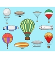Vintage flights airships vector image vector image