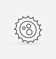 virus outline concept icon vector image vector image