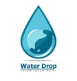 water drop blue underwater bubble vector image vector image