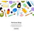 web banner perfume bottles background vector image vector image