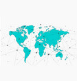 world map with point connection isolated map vector image