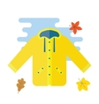 Yellow raincoat waterproof clothes vector image