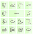 14 logo icons vector image vector image