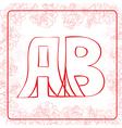 AB monogram vector image vector image