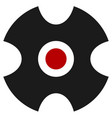 abstract crosshair target mark reticle icon vector image