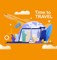 banner time to travel your dreams vector image vector image