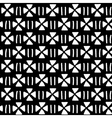 Black and white ethnic geometric seamless pattern vector image vector image