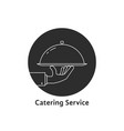 black round catering service logo vector image