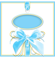 blue background bow vector image vector image