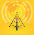 broadcast tower transmits to the world vector image