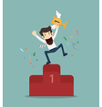 Business man the winner eps10 format vector image vector image