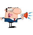Business Manager Speaking Through A Megaphone vector image vector image