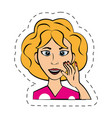 cartoon woman expression image vector image vector image