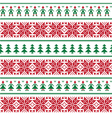 Christmas Nordic seamless pattern with people vector image vector image