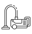 classic vacuum cleaner icon outline style vector image