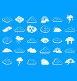 cloud icon blue set vector image vector image