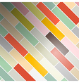 Colorful Abstract Retro Rectangles - Bricks vector image vector image