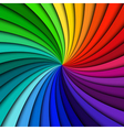 Colorful rainbow swirl vector image vector image