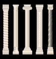 columns in antique style baroque stucco marble vector image