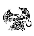 Dragon tatoo Tribal vector image vector image