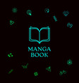 elegant logo with book symbol with pages vector image